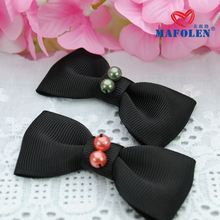 factory wholesale female hair accessories woven bow tie