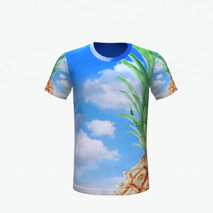 Hot sale sublimation blank 100% polyester T-shirt custom made T-shirt