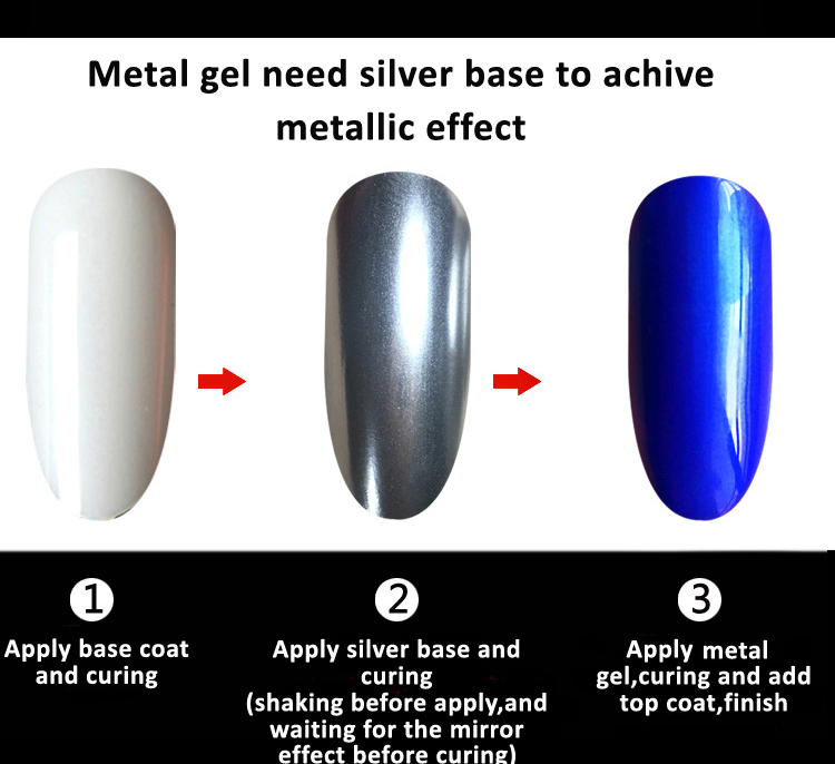 Mixcoco new arrivals special gel long lasting metal gel nail art soak off uv led gel polish for salon