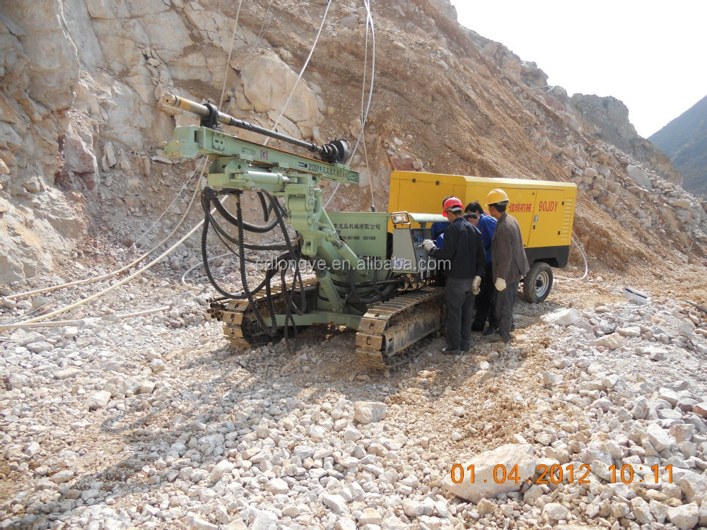hydraulic borehole drilling rig /down the hole drilling equipment with dust collector CTQ-Z115Y