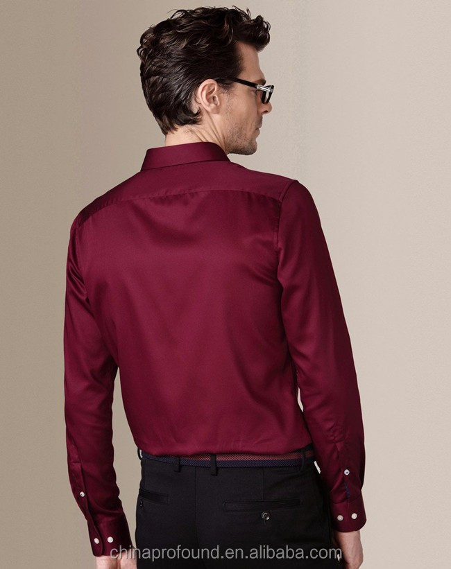 afa9f71bb00 Personalizado Slim Fit camisa de vestir venta al por mayor de manga larga  ropa de oficina