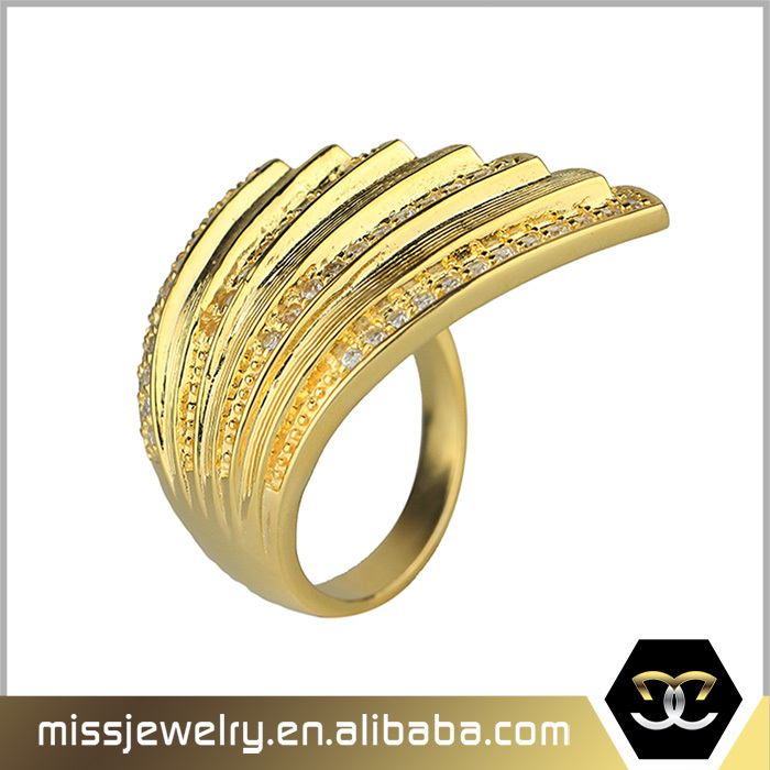 Missjewelry wholesale 4 gram pure gold finger wedding ring View