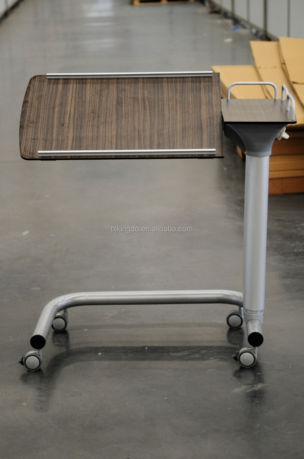 Hospital Dining Table Over Bed Table With Wheels Hospital