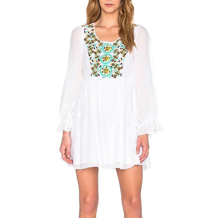 promo code edad9 367bc 2017 Mexikanische Bestickte Kleider Großhandel Weißes Kleid Langarm - Buy  Weiße Kleider Für Frauen,Mexikanische Bestickte Kleider Großhandel,Kleid ...