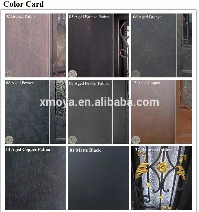 Lobby house front safety entrance doors design