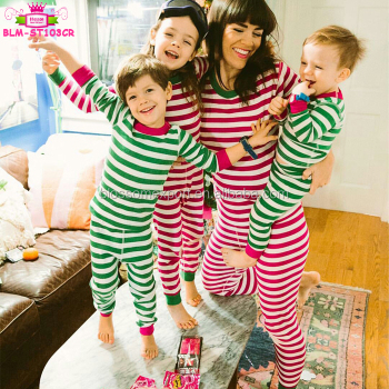 50e17f8d596d Wholesale Matching Family Christmas Pajamas Children Red Green Striped  Pyjamas Cotton Blank Christmas Pajamas Family 2017