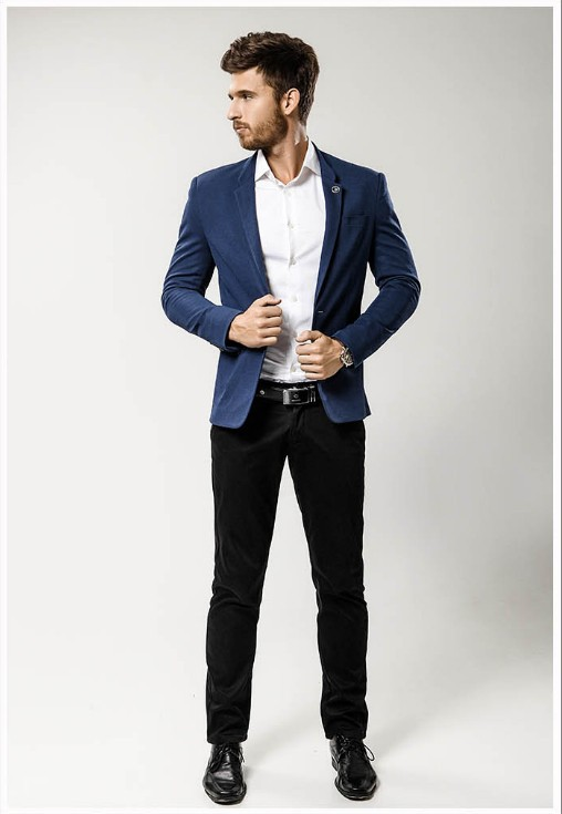 Stylish High Quality Navy Blue Casual Suit - Buy Casual Suit ...