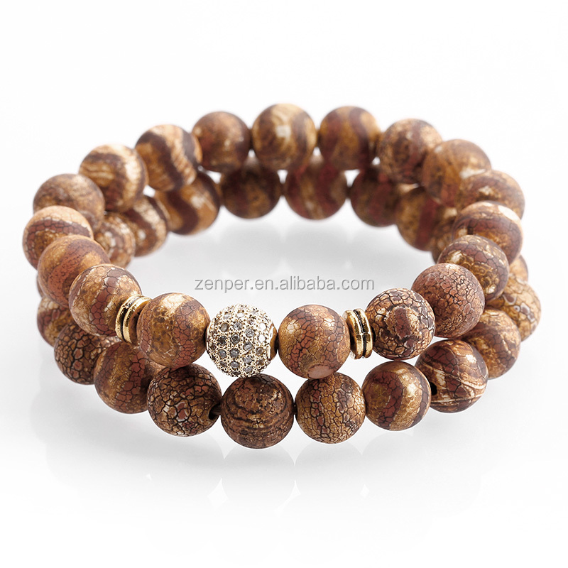 Rustic colored DZI eyes agate bracelets ,crystal pave ball wristcuff bracelets for men and women