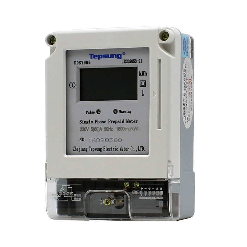 Digital Display Type Single Phase Prepaid Solid State Smart Electronic Energy Meter KWh Meter Power Meter with IC Card