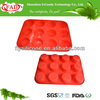 China Supplier FDA Approved 12 Cavities Food grade Silicon Rubber Cupcake Baking Tray