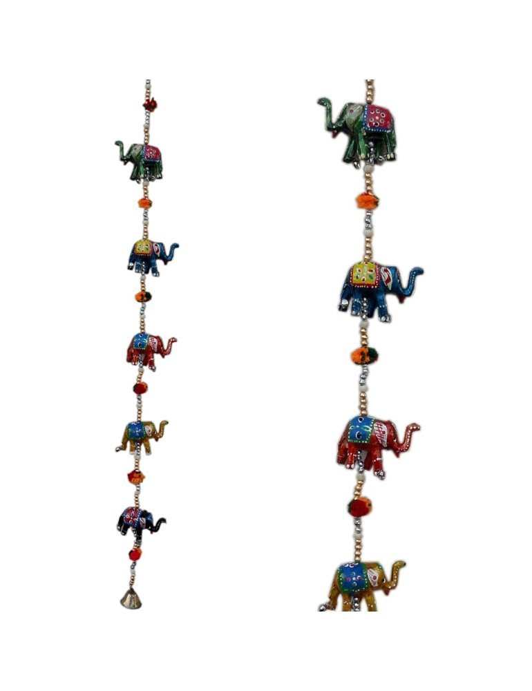 Little India Handcrafted Rajasthani Door Hanging Elephant