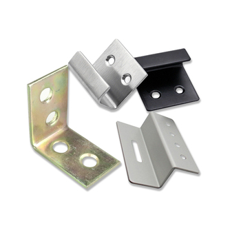 Stamping L U Z shape stainless steel/aluminum wall mount coerner angle stand bracket