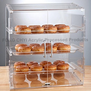 Custom clear acrylic bread/cake box/donuts display case