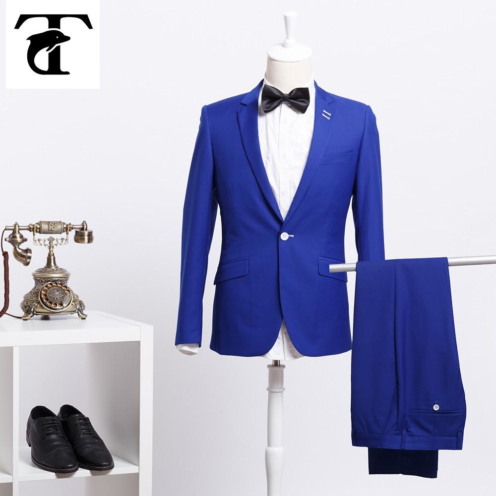 traje azul asiático a medida