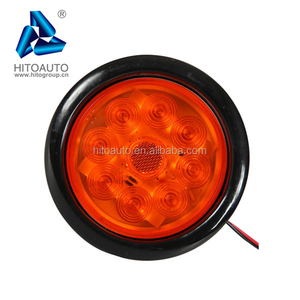 HT-011 Truck Trailer Showing Lights Red Round Beehive 12 LED Tail Lights Clearance