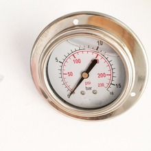 "High Quality 2.5"" Dial Oil Filled Pressure Gauge With Front Flange"