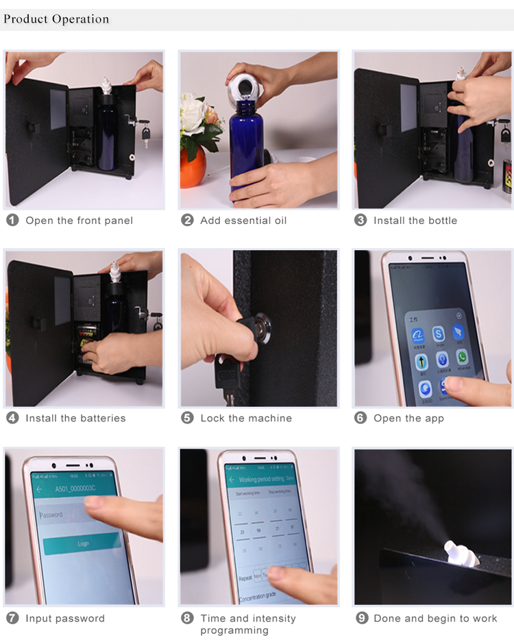 wall mounted perfume scent equipment,wireless electric aroma diffuser