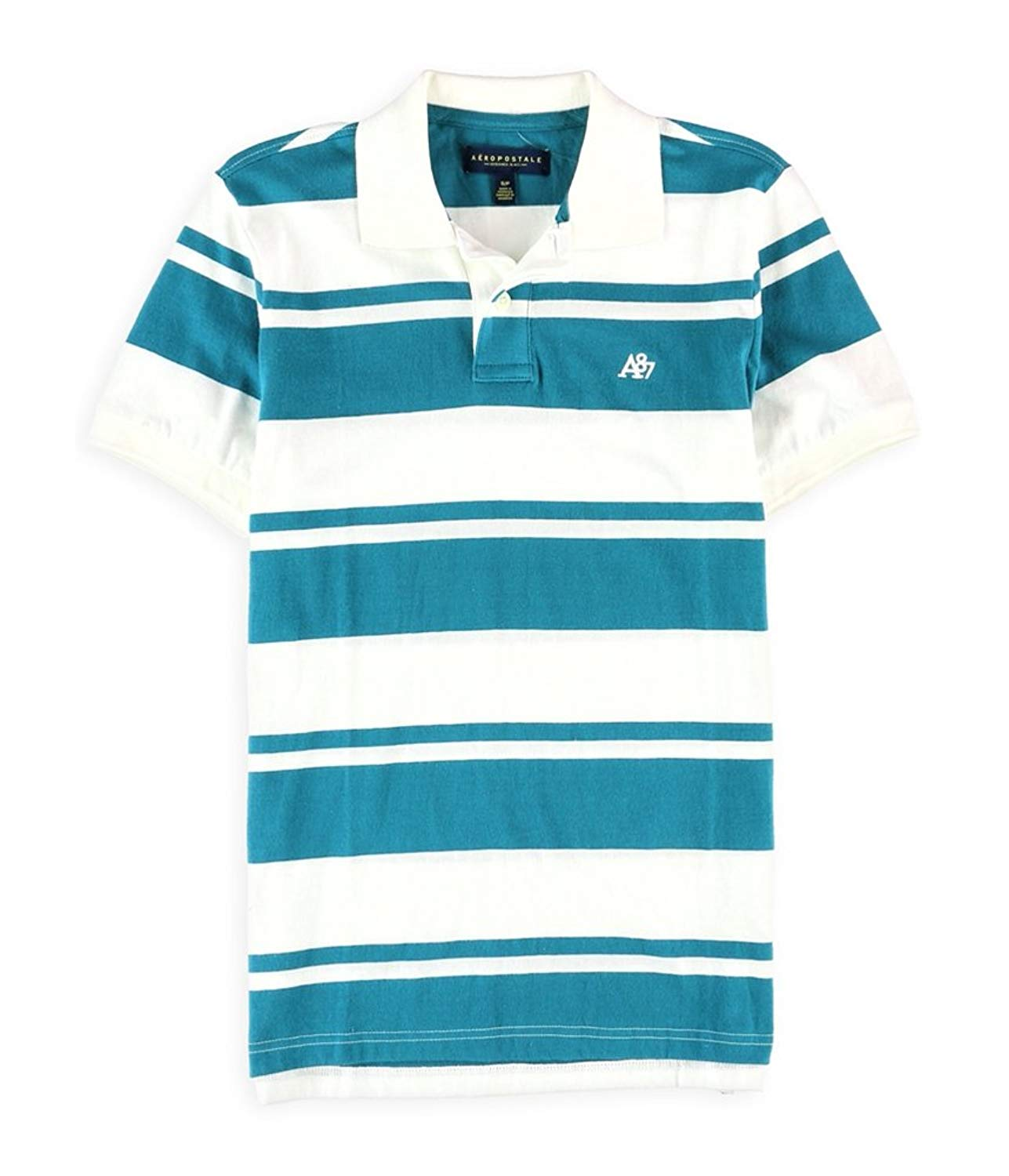 44d767f8bde Buy Aeropostale Mens A87 Striped Rugby Polo Shirt in Cheap Price on ...