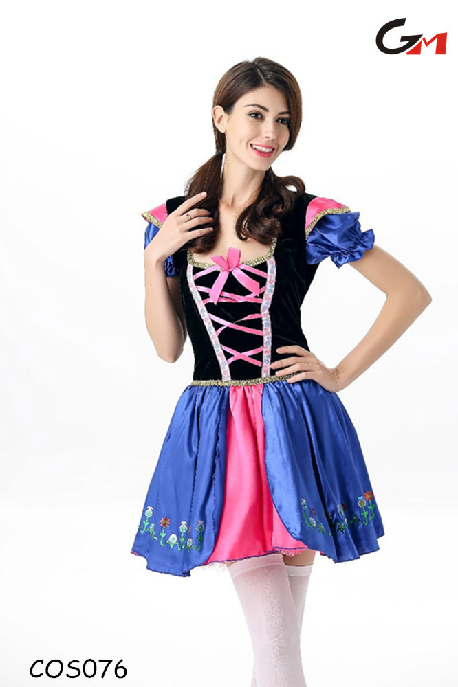 new model free size short lovely waitress maidservant beer dress costume