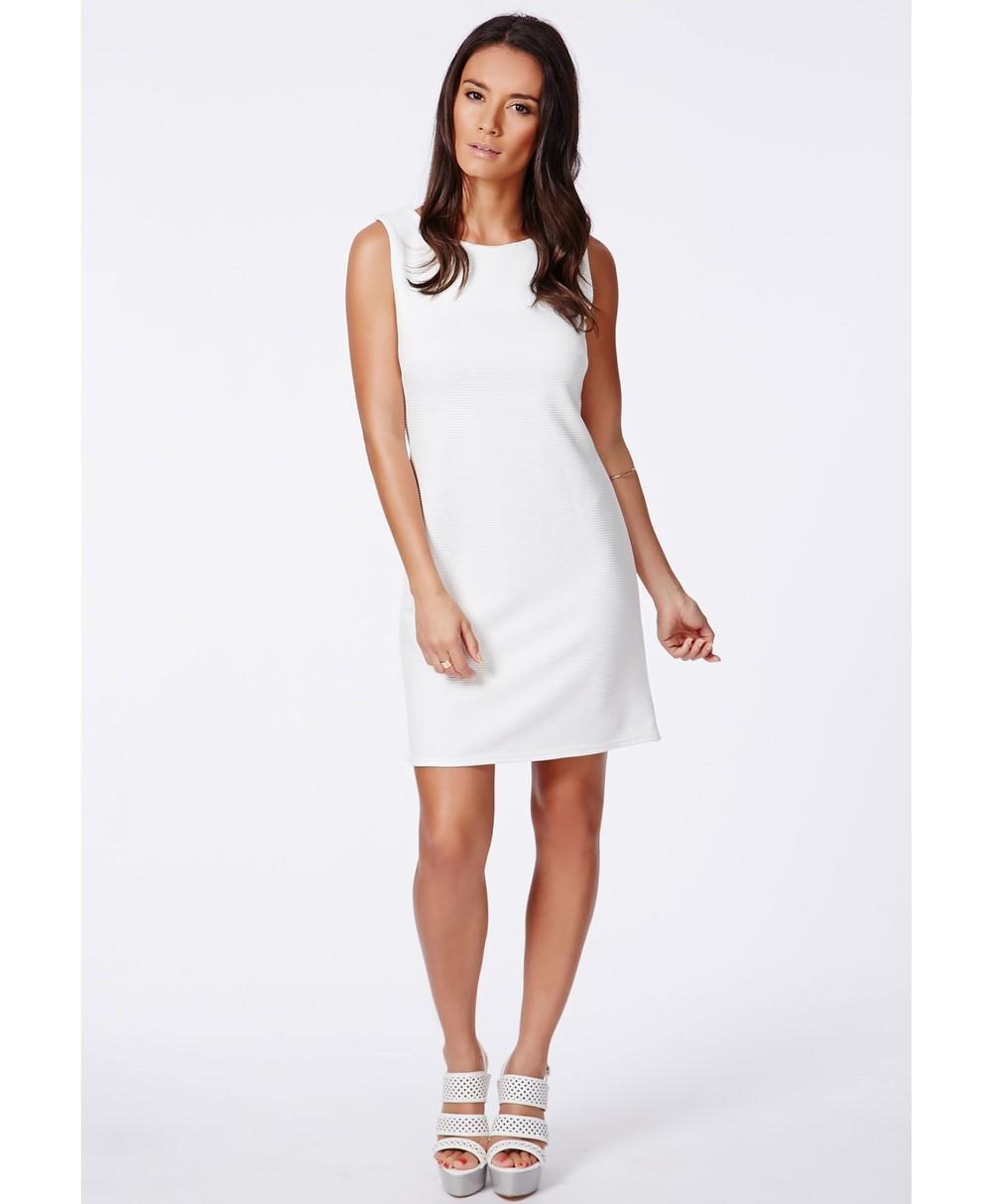 897eb6d7161de Beyaz Ofis İçin Resmi Kolsuz Düz Elbise - Buy Düz Elbise Ofis,Beyaz ...