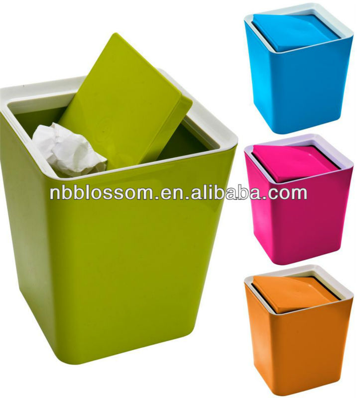 Small Plastic Storage Kitchen Recycle Waste Rubbish Dust Tidy Bin With Lidu0026  Clip   Buy Kitchen Waste Bin With Stainless Steel Lid,Built In Kitchen  Waste ...