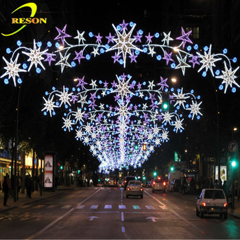 gold supplier outdoor christmas street light decoration