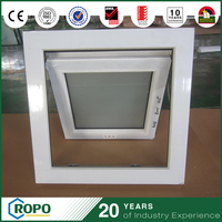 Cheap Vinyl Awning Window With Double Glazed Obscure Glass