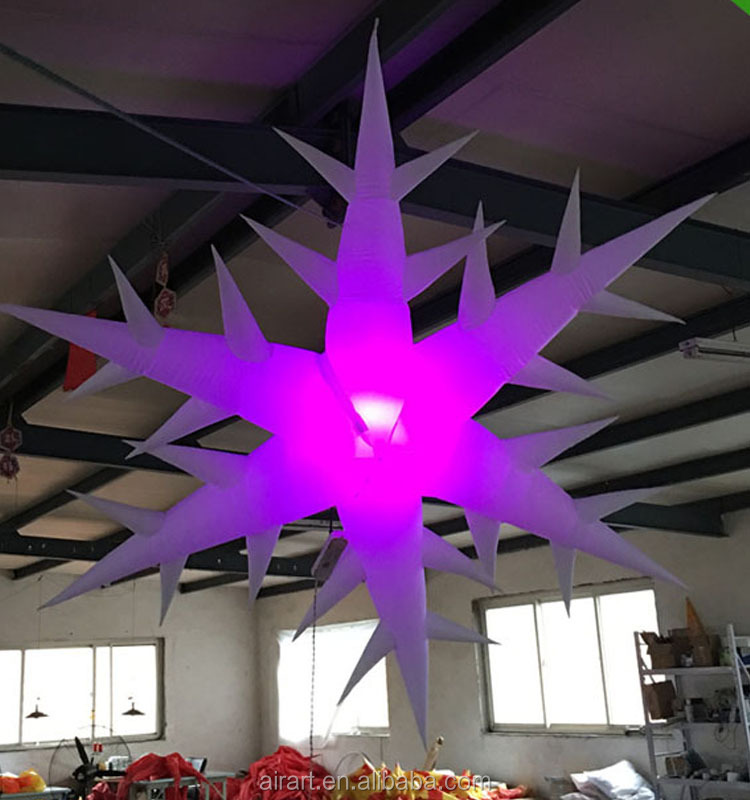 The party decoration inflatable products LED lighting giant inflatable stars