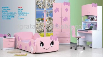 2014 Lovely Hello Kitty Girls Car Bed Set Is Design For Children In E1 Mdf Board