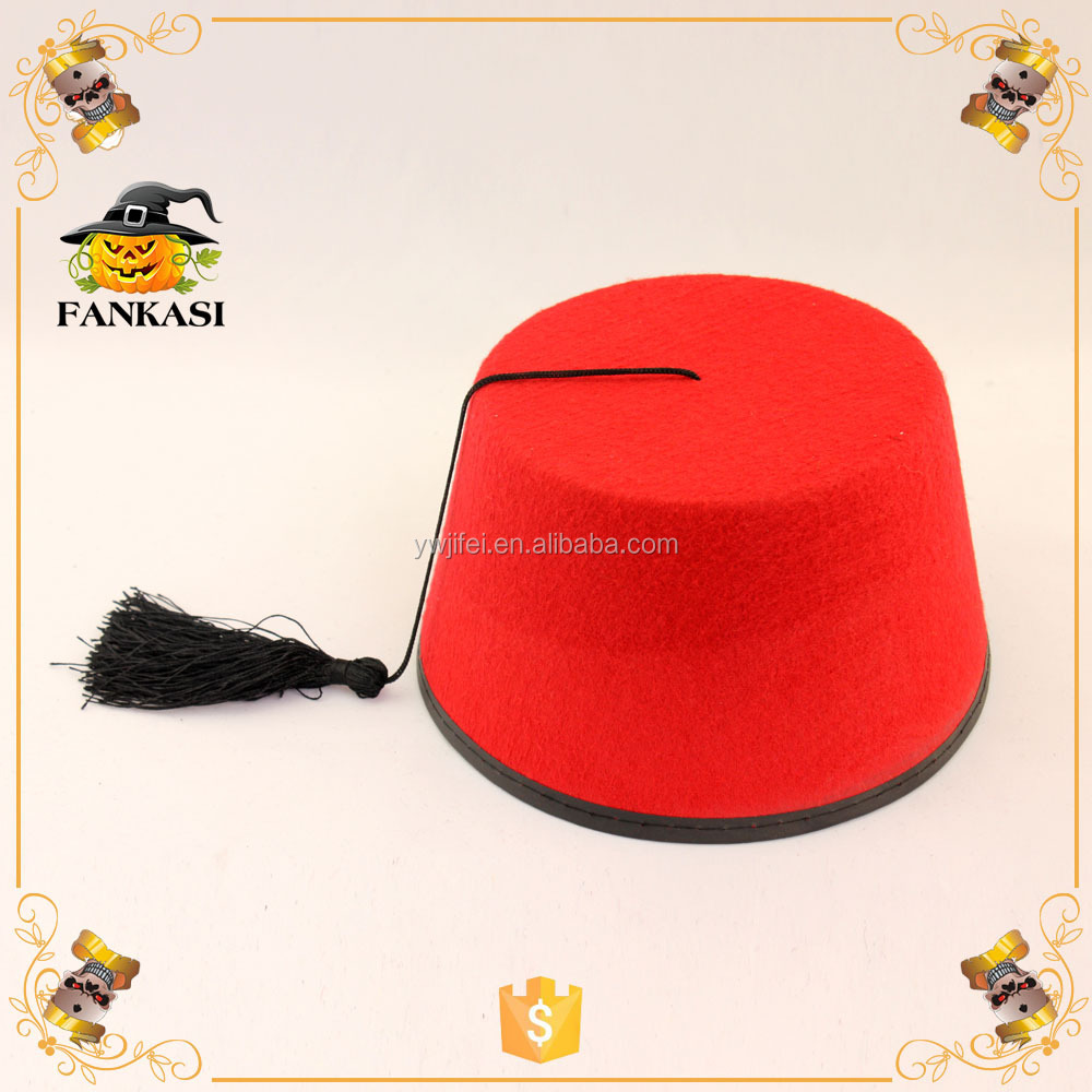 Lovely Red Party wholesale Felt Fez Hat