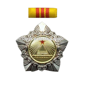 Zinc alloy metal medal/ trophy award with ribbon