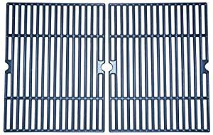 Music City Metals 60042 Matte Cast Iron Cooking Grid Replacement for Select Charbroil Gas Grill Models, Set of 2 by Music City Metals