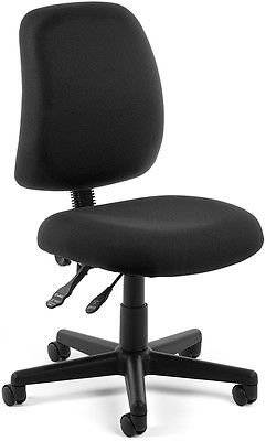 Office Medical Computer Task Chair in Black Stain Resistant Fabric -Clinic Chair