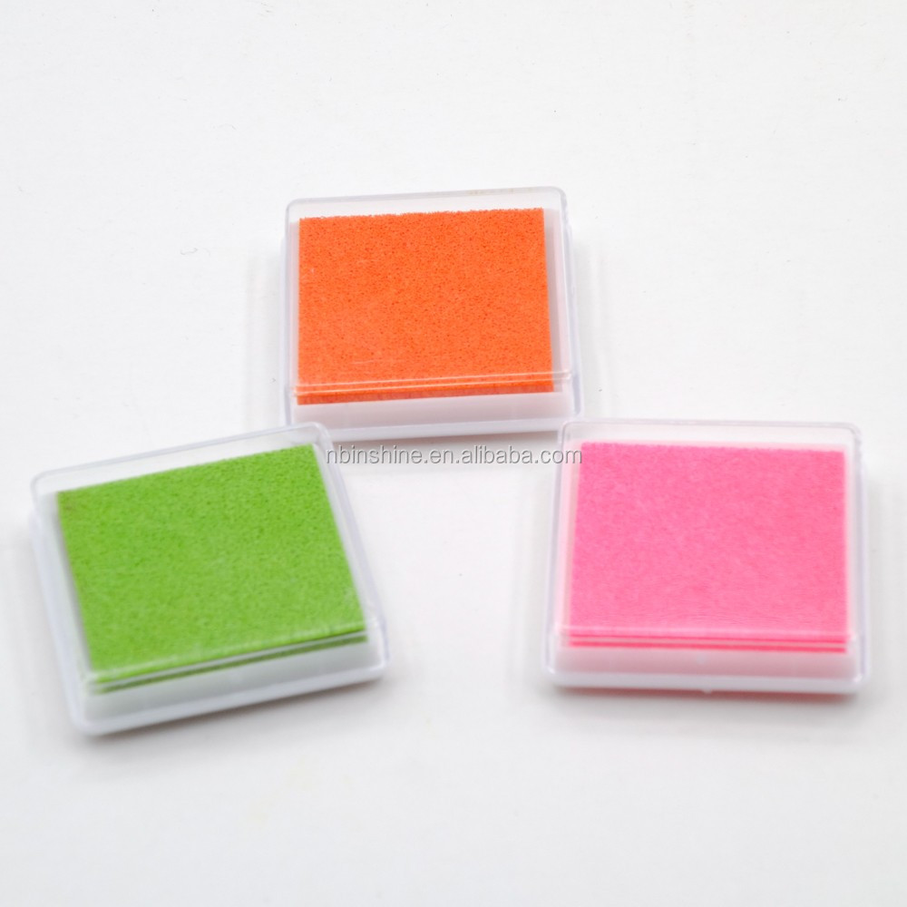 Cartoon fingerprint ink pad rubber stamps set for children