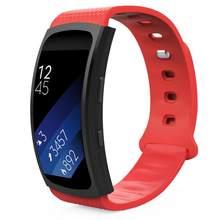 Защитный чехол и роскошный силиконовый для часов сменный ремешок для samsung gear Fit 2 SM-R360/Fit 2 Pro Smart Watch(Китай)