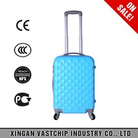 sky blue, High Quality ABS Carry-on Suitcase For Airline, vintage suitcase bags