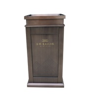 Haoyida Customized Vintage Solemnly Shopping mall Office Building Stainless Steel Metal Trash Can