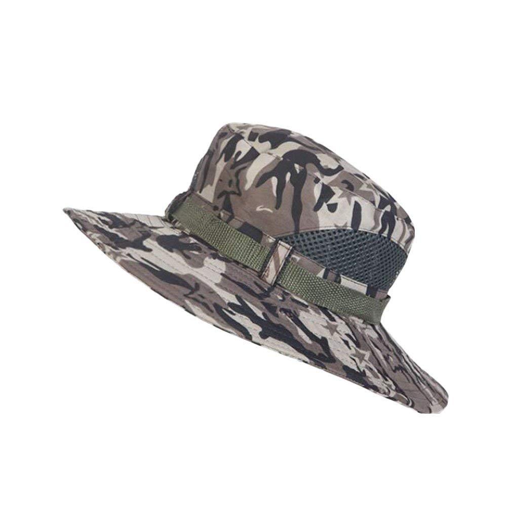 cc6014024c95bb Get Quotations · 4URNEED Camo Mens Wide Brim Outdoor Sun-Hats Fishing Hats  Hunting Hats Safari Summer Hat