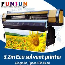 Funsunjet FS-3202G 3.2m 1440dpi DX5/7 head printing machine alpha eco solvent printer