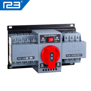 63A single phase three phase ATS automatic transfer switch