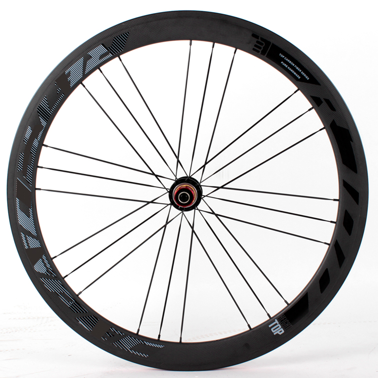 This is Chinese new style firm carbon road bike Wheels with doublr-deck 24hole clincher rims in hot selling