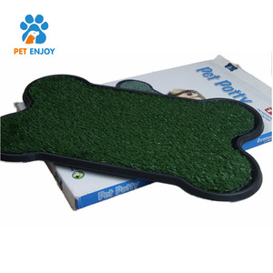 Artificial Turf Synthetic Grass Puppy Potty Detachable Tray Indoor Pet dog Toilet For Dog