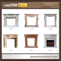 White Marble pellet fireplace for sale
