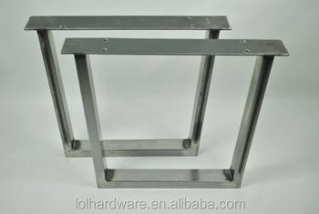 forma de u de metal patas de acero inoxidable para muebles