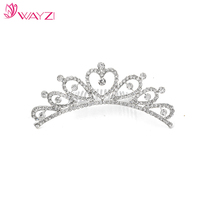 WAYZI brand silver metal bridal crown tiaras hair accessories headpiece fashionable hair jewelry