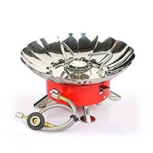 Etekcity E-gear Portable Collapsible Windproof Backpacking Gas Camping Stove (Certified Refurbished)