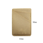 Phone Card Holder PU Leather Rose Gold Wallet Pocket Credit Card ID Case Pouch 3M Adhesive Sticker on Phone