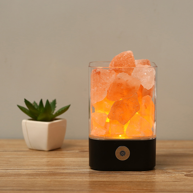 New 2018 Creative Table Decor LED Himalayan Crystal Salt <strong>Lamp</strong> with dimming