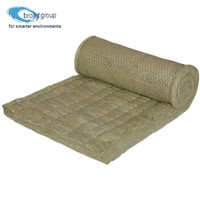 High temperature heat resistant wire mesh rock wool blanket insulation
