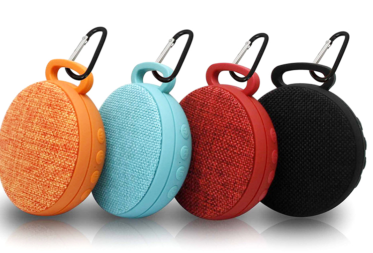 OEM USB wireless speaker cloth material mini bluetooth fabric speaker for MP3 mobile phone